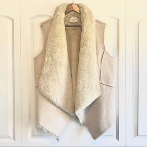 Loft | Faux Fur-lined Suede Vest